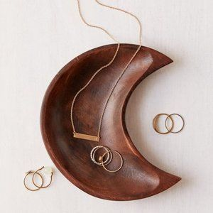 Crescent Moon Wood Catch-All Dish UO